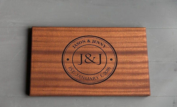 Academy Mortgage Personalized Beautiful Large Mahogany Cutting Board