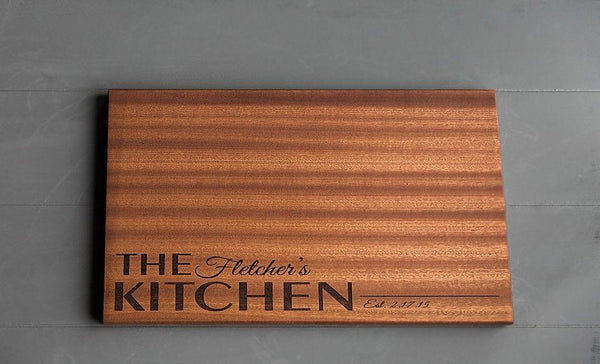 New Beautiful Large Mahogany Cutting Board (11X17)