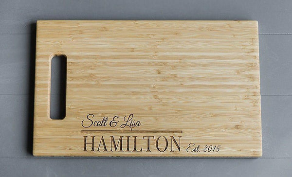 Team Sadler Personalized Beautiful Large Bamboo Boards