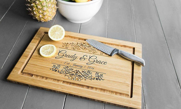 New Personalized Cutting Board 11x17 Bamboo