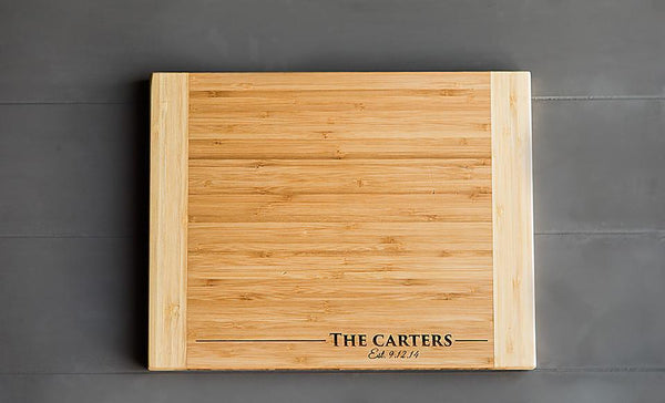 Personalized Bamboo Cutting Board 11x14 – 11 Styles!