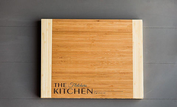 Realty World Personalized Cutting Board 11x14 Bamboo