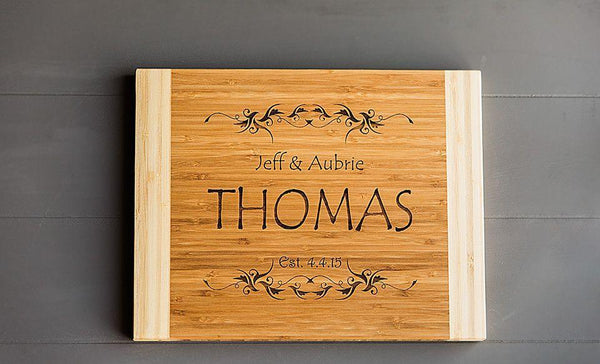 Academy Mortgage Personalized Cutting Board 11x14 Bamboo