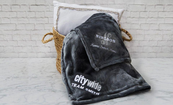 Citywide Home Loans Custom Embroidered Minky Touch Blankets