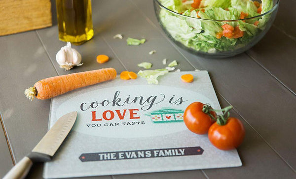 Personalized Trendy Glass Cutting Boards