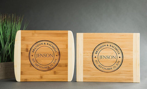 Customized Cutting Board 11x14 (Rounded Edge) Bamboo – 7 Designs