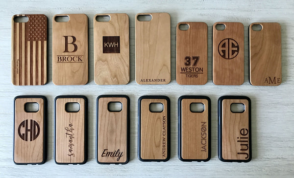 Personalized Wooden iPhone Cases