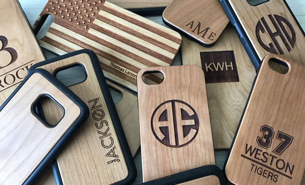 Personalized Wood Cell Phone Cases