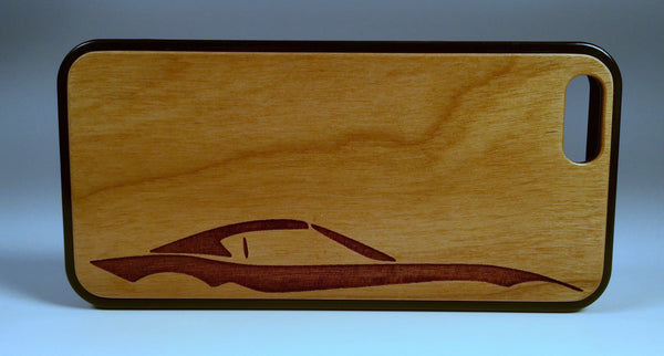 Custom MX-5 RF Natural Wood Engraved Phone Cases