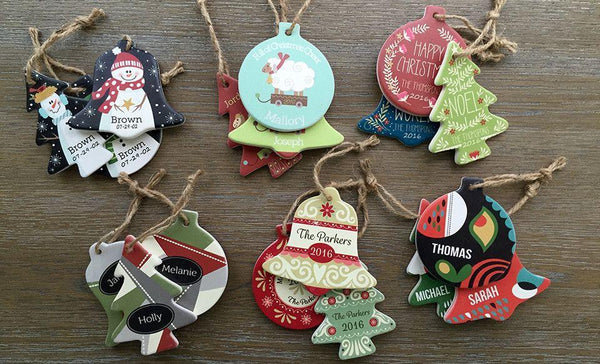 Customized Christmas Ornaments - Set of 3!