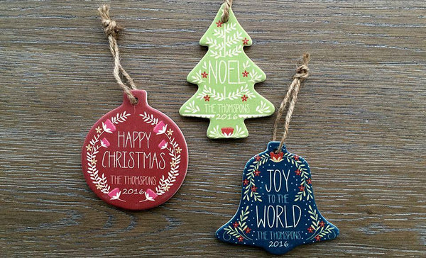 Personalized Christmas Ornaments - Set of 3