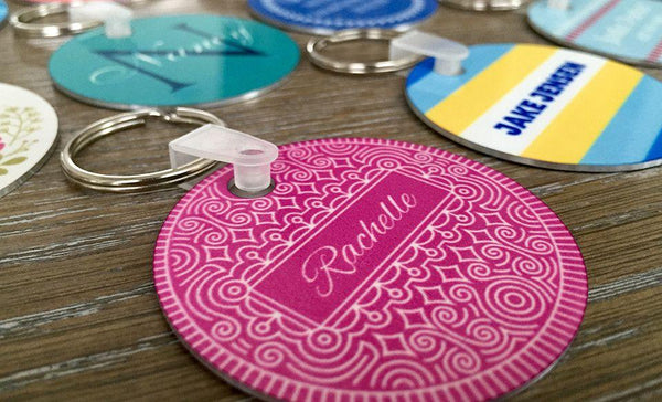 Personalized Key Chains - Circle Designs - Qualtry Personalized Gifts