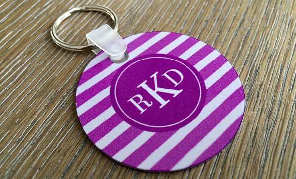 Personalized Key Chains - Circle Designs - Qualtry