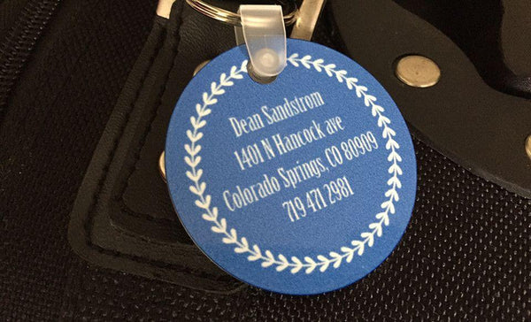 Personalized Key Chains - Circle Designs