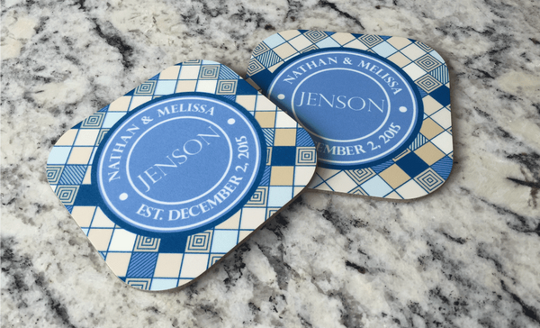 Personalized Full Color Coasters – Set of 2 - Qualtry