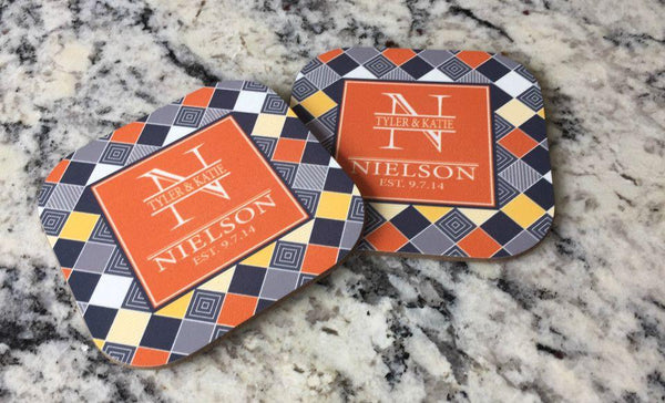 Personalized Full Color Coasters – Set of 2 - Qualtry Personalized Gifts