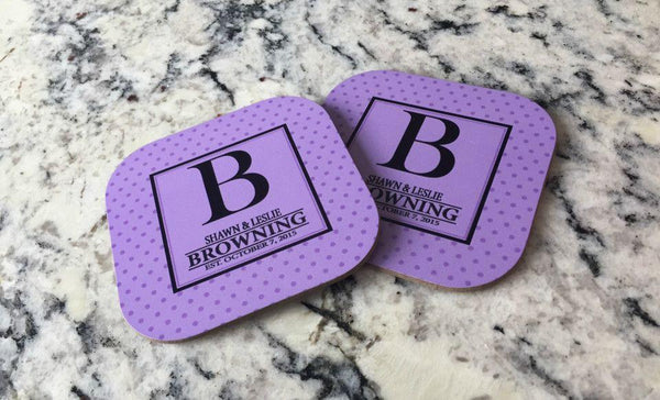 Customized Full Color Coasters – Set of 2