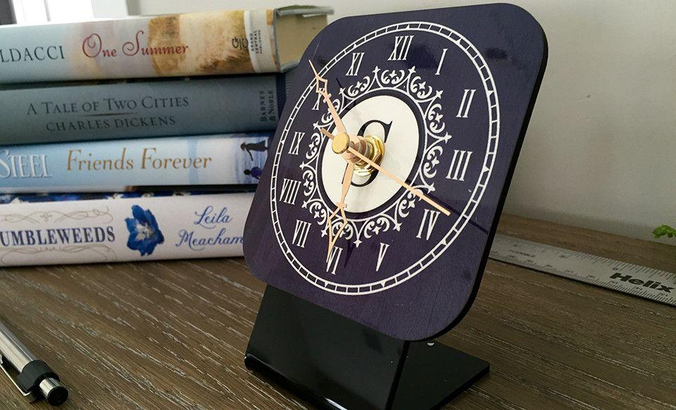 Personalized Desk Clocks Qualtry