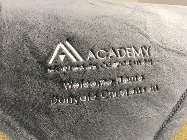 Academy Mortgage Custom Embroidered Minky Touch Blankets