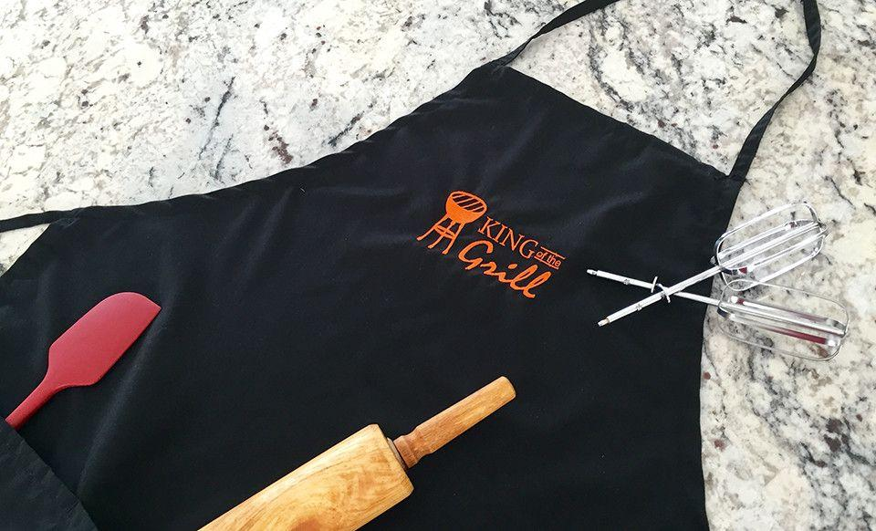 Personalized Apron, Add a Name Embroidered Design, Add Your Own Name,  Cotton/