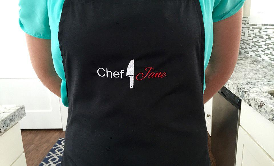 Grammy Apron Personalized Apron Embroidered Apron Custom Apron Chef Hat  with coordinating oven mitts and hot