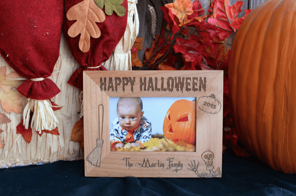 Personalized Spooky Halloween Photo Frames - Qualtry Personalized Gifts