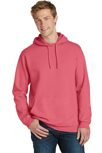 Corporate Apparel - Custom Printed Port & Company Pigment-Dyed Pullover Hooded Sweatshirt - PC098H