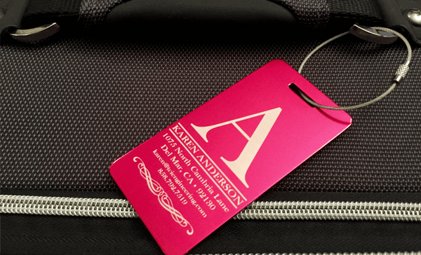 Luggage Tags: Personalized Aluminum Luggage Tags