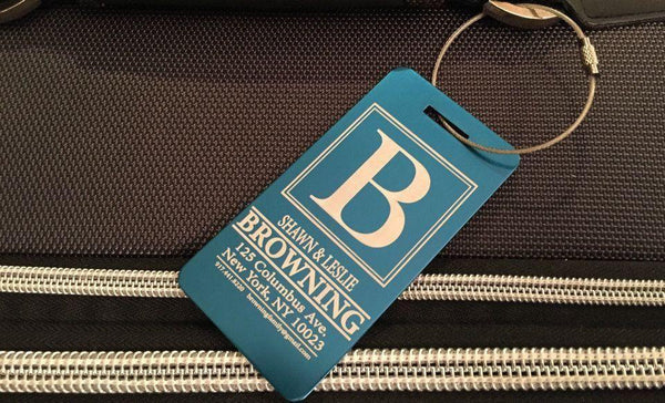 Personalized Aluminum Luggage Tags - Qualtry Personalized Gifts