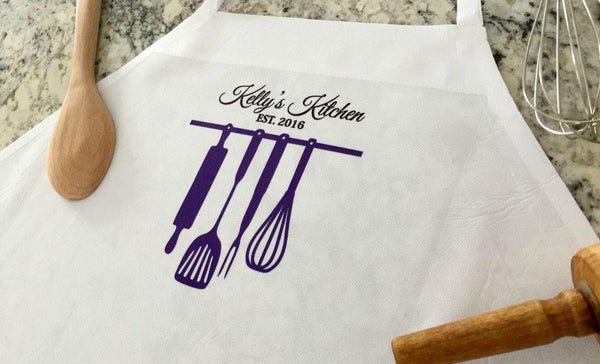 Personalized Aprons Embroidered Printed Qualtry Tagged Home