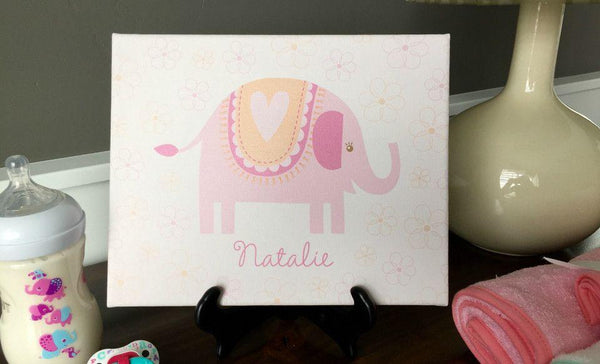Personalized Canvas Wall Décor - Classic Design - Baby Girl - Qualtry