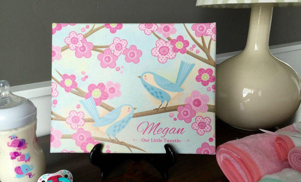 Personalized Canvas Wall Décor - Classic Design - Baby Girl