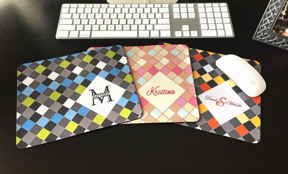 personalized mouse pads checkerboard design qualtry