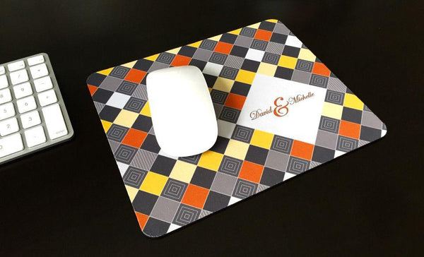 Personalized Mouse Pads - Checkerboard Design - Qualtry