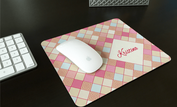 Personalized Mouse Pads - Checkerboard Design