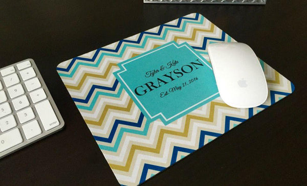 Personalized Mouse Pads - Chevron Design - Qualtry