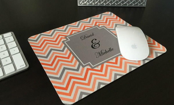 Personalized Mouse Pads - Chevron Design - Qualtry Personalized Gifts
