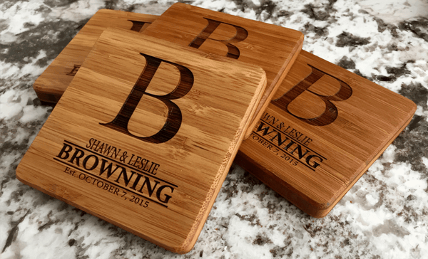 Corporate Gift Item - Thick Bamboo Coaster