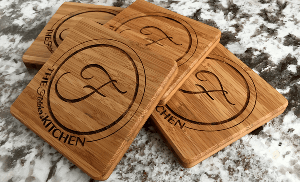 Personalized Thick Bamboo Coasters – Set of 4! – 5 Amazing Designs! - Qualtry