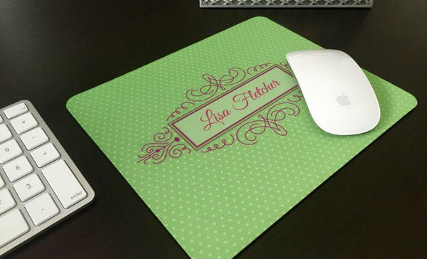 Personalized Mouse Pads - Decorative Swirl Design