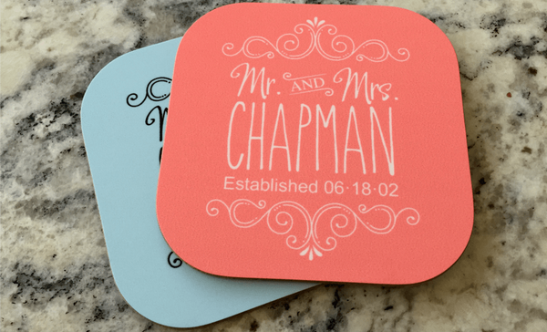 Personalized Designer Coasters - Set of 2 - Qualtry