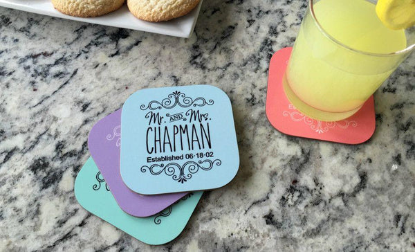 Personalized Designer Coasters - Set of 4 - Qualtry Personalized Gifts