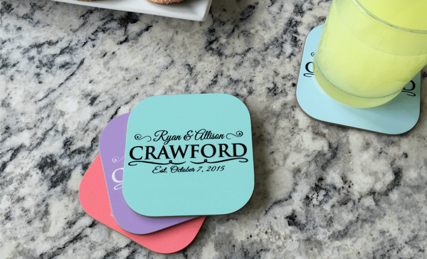 Personalized Designer Coasters - Set of 4