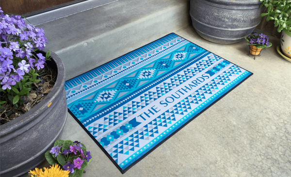 Personalized Large Door Mats - Southwest Design - Qualtry