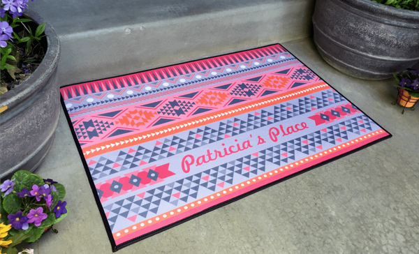 Personalized Large Door Mats - Southwest Design