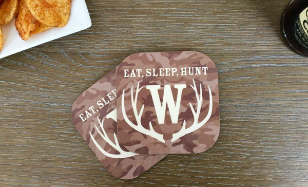 Personalized Hunting Coasters - Set of 2