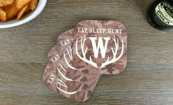 Personalized Hunting Coasters - Set of 4