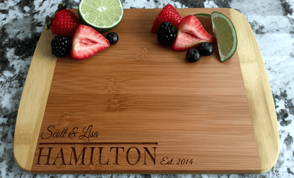 Personalized Cutting Board 8.5x11 (Rounded Edge) Bamboo – 12 Designs