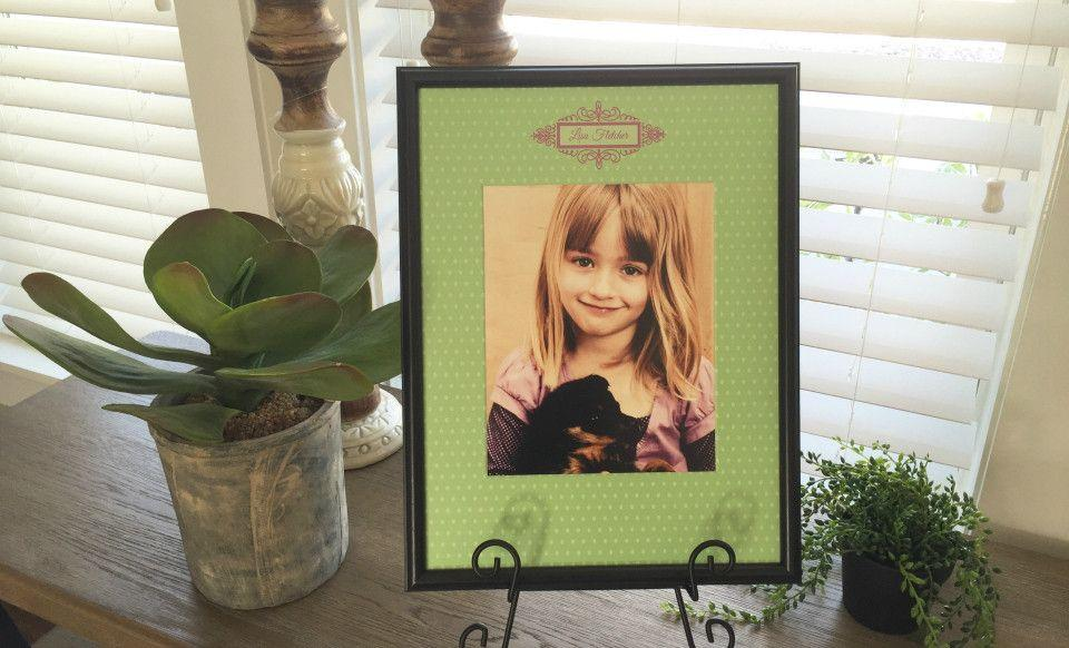 31b1059a747 Personalized Designer Photo Frames - Polka Dot Style - Qualtry