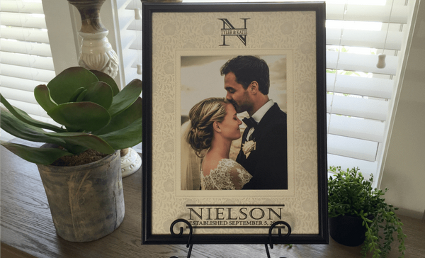 Personalized Designer Photo Frames - Floral Style